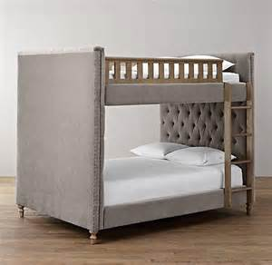 chesterfield upholstered grey bunk bed
