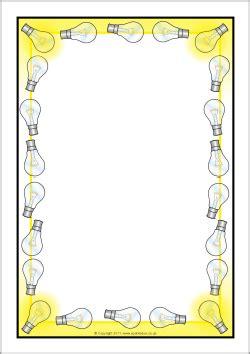 lights page border light bulb themed a4 page borders sb5741 sparklebox