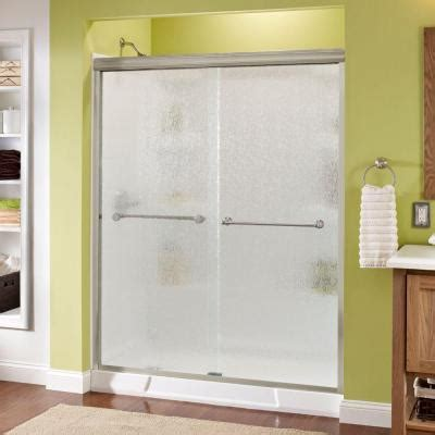 sliding shower doors home depot delta crestfield 59 3 8 in x 70 in semi framed bypass