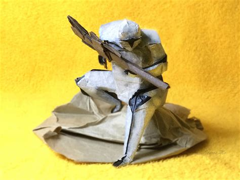 origami clone trooper wars origami episode ii clones droids yoda and more