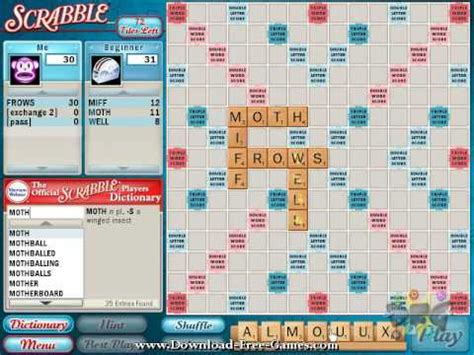 i want to play scrabble for free official scrabble pc play