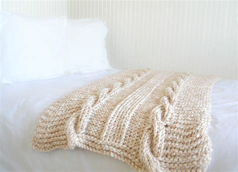 easy knit pattern free endless cables chunky knit throw pattern in a stitch