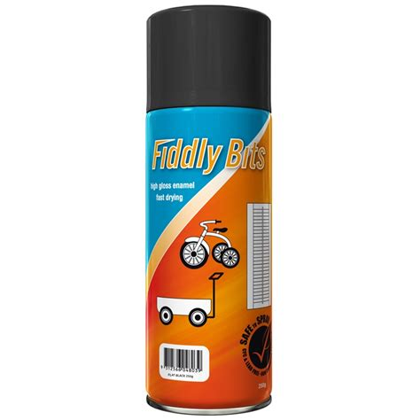 spray painter fiddly bits 250g spray paint flat black bunnings warehouse