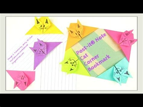 post it craft paper paper crafts origami cat post it 174 note crafts diy