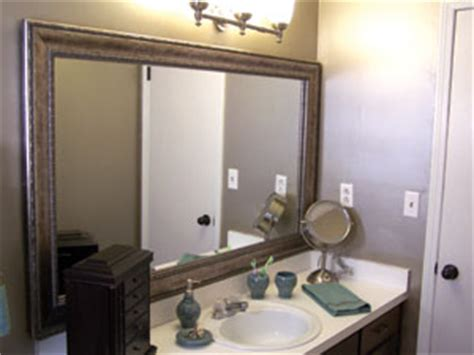 do it yourself framing a bathroom mirror do it yourself mirror frames how to