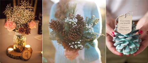 pine cone centerpieces 35 pinecones wedding ideas for your winter wedding
