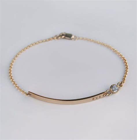 bracelet with gold nameplate bracelet cubic zirconia cz name