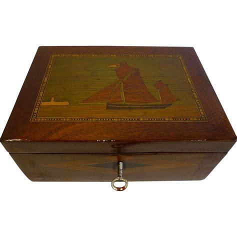 jewelry desk antique house jewelry or desk box c 1860