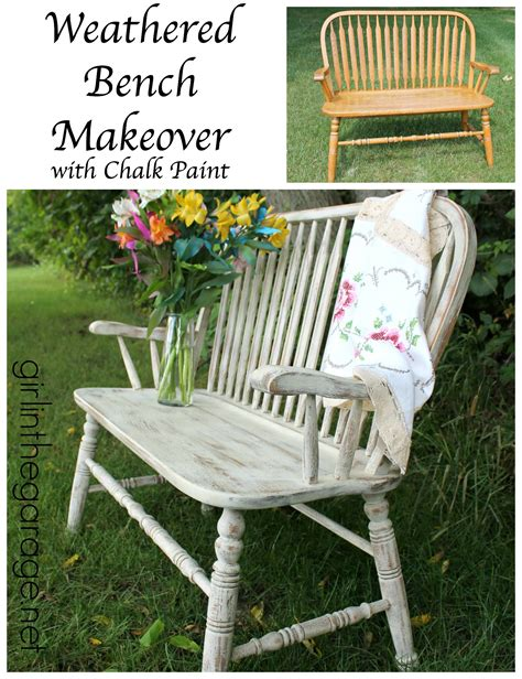 chalk paint bench ideas weathered bench makeover with chalk paint in the