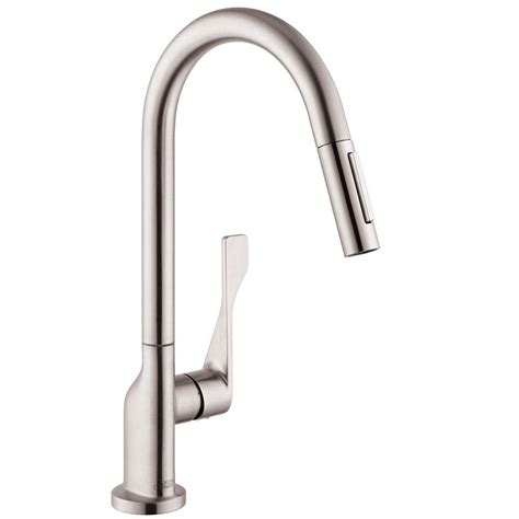 hans grohe kitchen faucet hansgrohe axor citterio single handle pull out sprayer