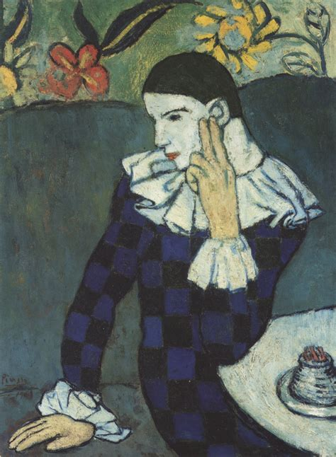 picasso paintings metropolitan museum epph picasso s harlequin 1901 and blue period