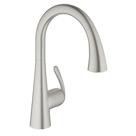 polished nickel kitchen faucets grohe nickel pull faucet nickel grohe pull faucet