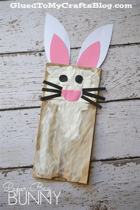 easter paper bag crafts paper bag bunny kid craft