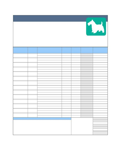 free pet sitting invoice template invoice template 2017