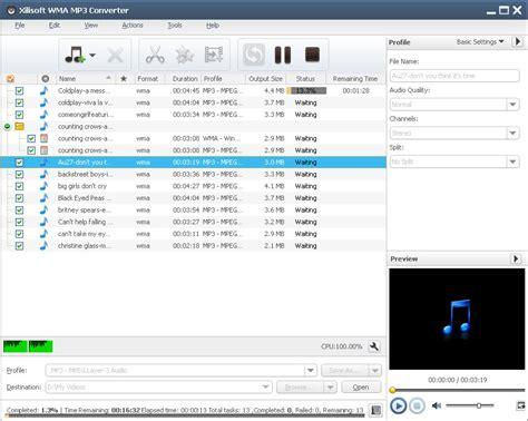 mp3 converter xilisoft wma mp3 converter convert other audios to wma mp3