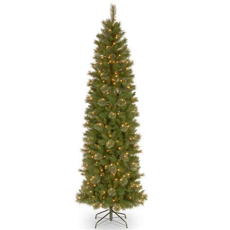 pencil slim tree national tree company 7 1 2 ft tacoma pine pencil slim