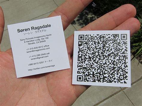 how to make a qr code business card 30 creative qr code business cards webdesigner depot
