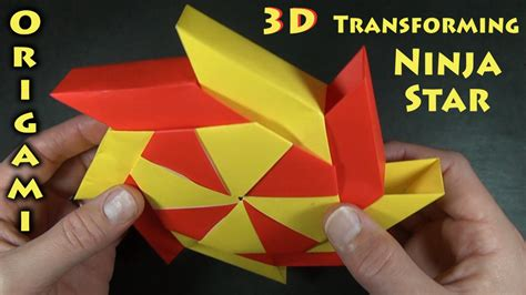 how to make a origami shuriken origami 3 d transforming designed by bolt
