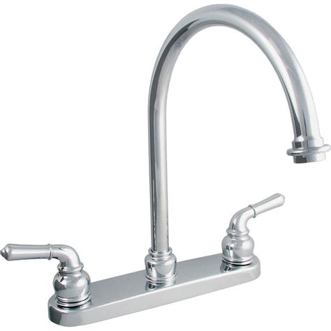 2 kitchen faucet ldr industries 2 handle standard kitchen faucet in chrome 15728504 the home depot