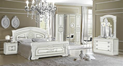white traditional bedroom furniture new daya italian white silver traditional design bedroom