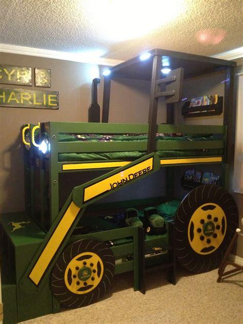 deere bed white deere tractor bunk bed diy projects