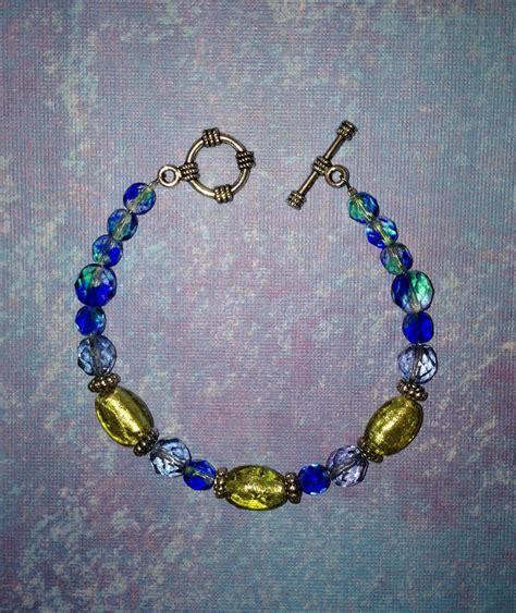 cool beaded jewelry ovaline and blue bracelet unique beaded jewelry
