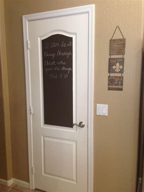 chalk paint interior door chalk paint on my pantry door diylove kitchen ideas