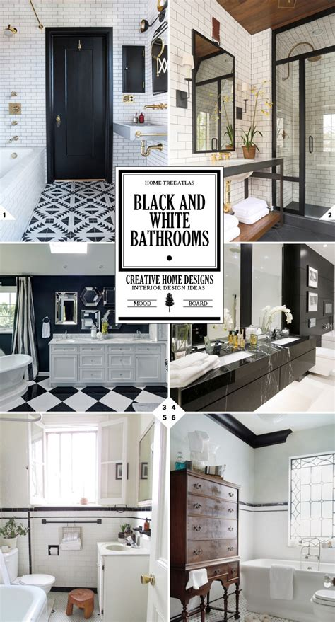 Black And White Bathroom Decor Pictures by The Classic Look Black And White Bathroom Decor Ideas