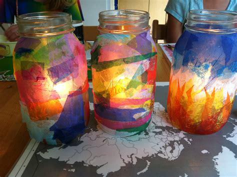tissue paper lantern craft shine a light tissue paper lanterns mango theory
