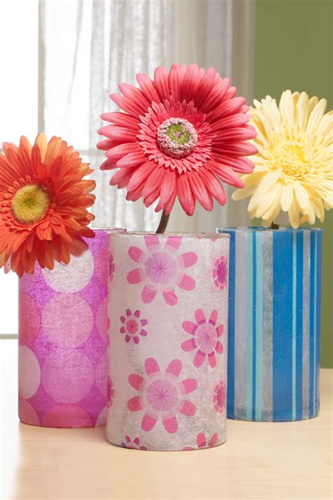 tissue paper decoupage on glass decoupage glass vase image search results