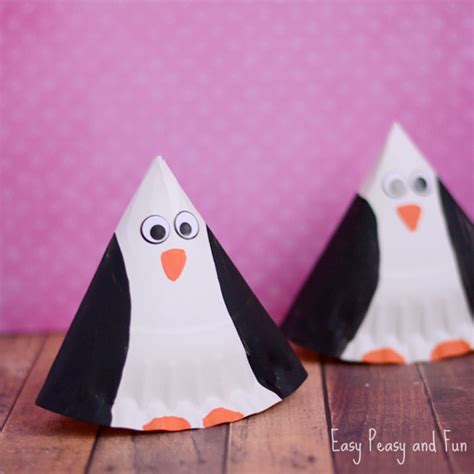 penguin paper plate craft paper plate penguin craft easy peasy and