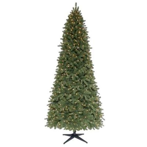 9 ft slim tree home depot martha stewart living 9 ft pre lit downswept wimberly