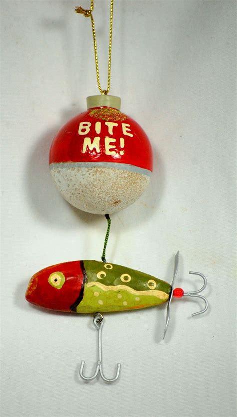 fishing ornaments bite me fishing lure ornament