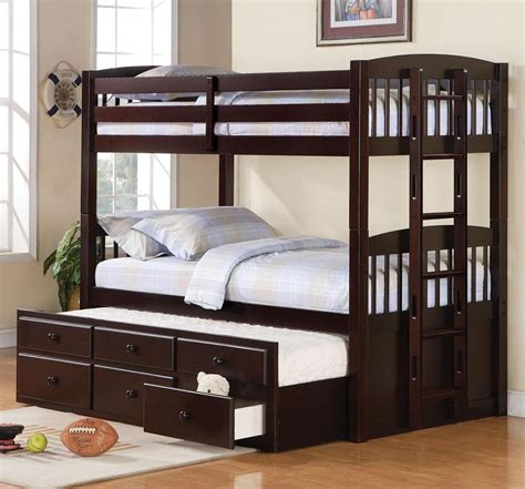 bunk beds with trundle dennis bunk bed w optional trundle bed