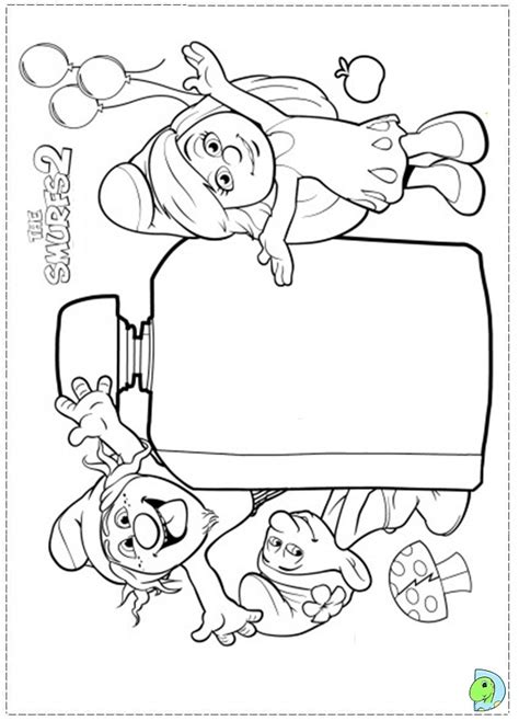 the smurfs 2 coloring page dinokids org