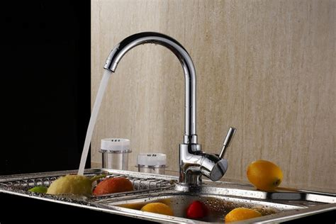 water faucets kitchen kitchen water faucet brass single chrome brush nickel