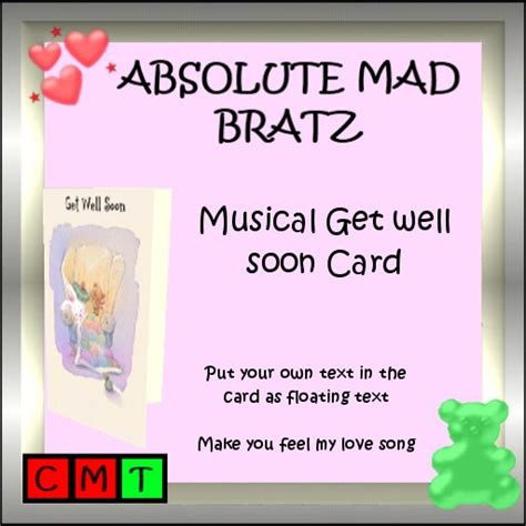 make your own get well card second marketplace musical card get well soon