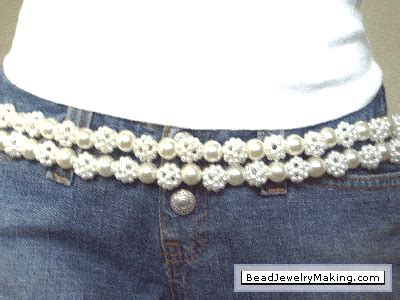 how to make a beaded belt beaded pearl belt bead jewelry