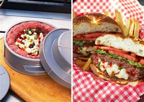 backyard grill stuffed burger press stuff a burger press hiconsumption
