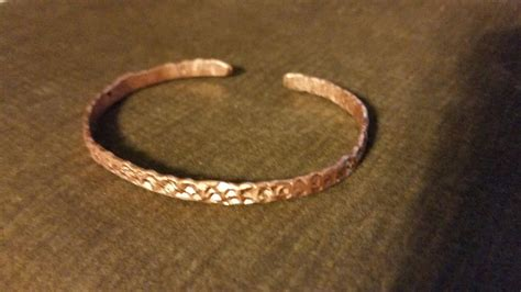 how to make copper jewelry diy day 6 textured copper bracelet from copper ground