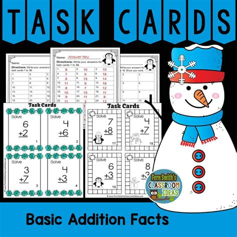 task cards winter themed addition and subtraction task cards fern