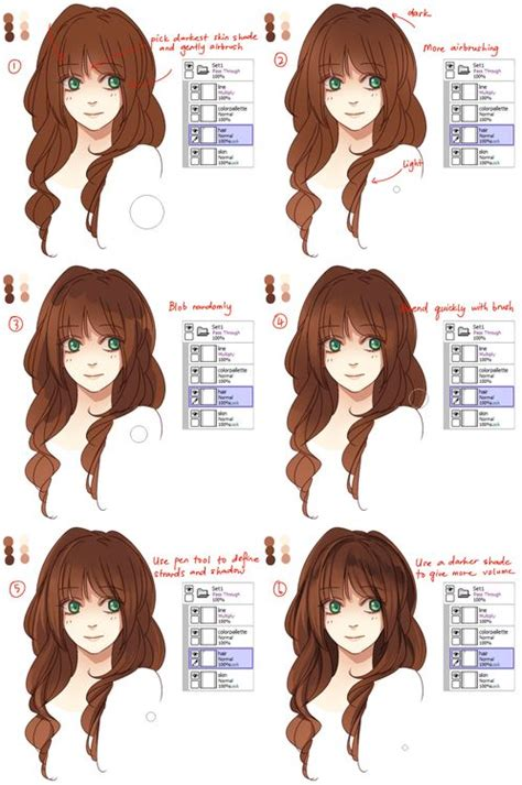 how to shade hair 1000 images about soft shading tutorials on