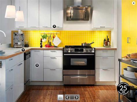 ikea kitchens ideas ikea yellow and white kitchen design interior design ideas