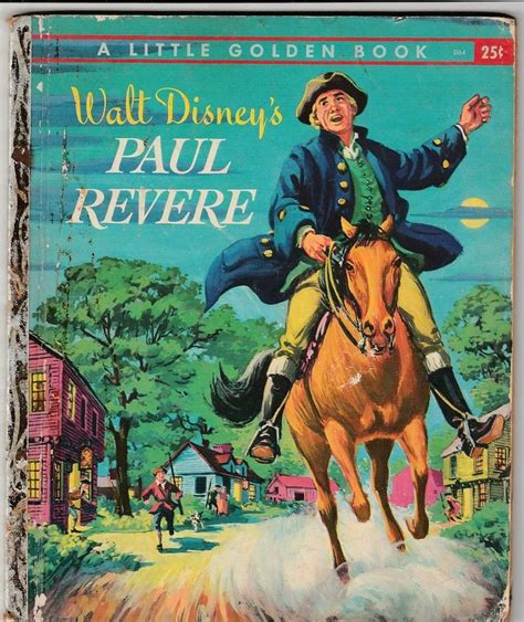 a picture book of paul revere vintage walt disney s paul revere golden book 1957