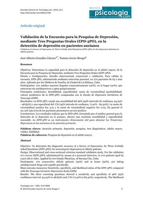 preguntas test javascript validaci 243 n de la encuesta para la pesquisa de depresi 243 n