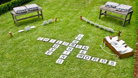 outdoor scrabble board 20 awesome diy backyard ideas that will make your