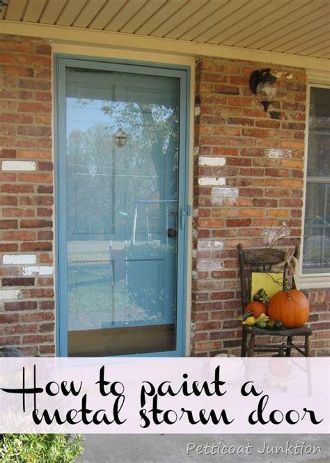 painting exterior metal door painted metal door and front door home improvement