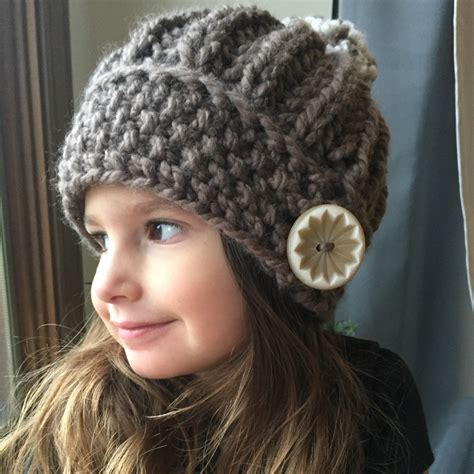 free knitting patterns for chunky wool hats slouchy hat pattern threaded together