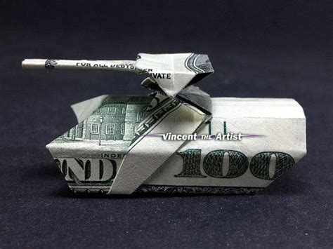 tank origami money origami tank made with 100 bill p 233 nz