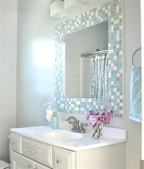 diy mosaic tile bathroom mirror centsational